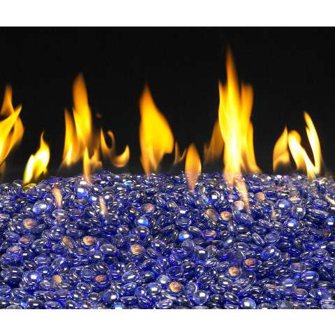 Sapphire Fireplace Glass Gems - 10lb bag