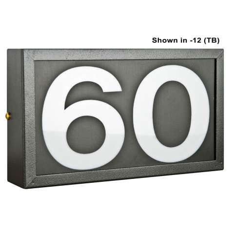 Sunset Lighting F10050-31 Small Address Light Standard 4 inch Numbers Black Vinyl in Black Finish