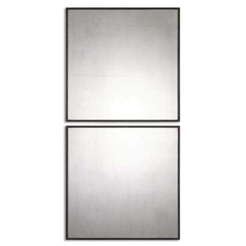 Uttermost Matty Antiqued Square Mirrors - S/2