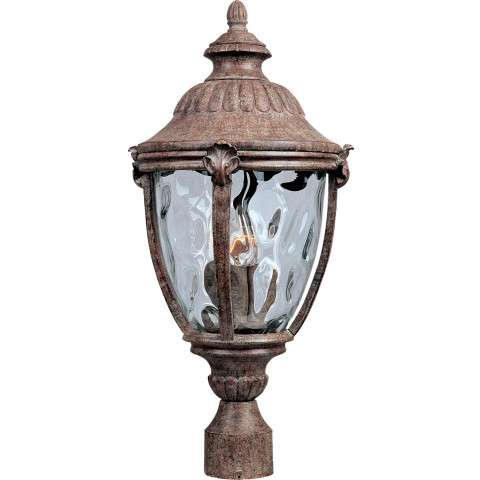 Maxim 40281WGET Morrow Bay VX 3-LT Outdoor Pole/Post Lantern in Earth Tone with Water Glass glass.