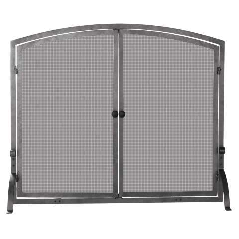 "Single Panel Olde World Iron Screen With Doors - Large - 44"" Wide x 34"" Tall"