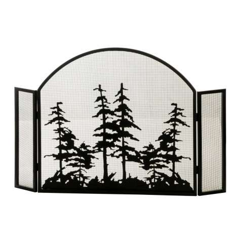 "Tall Pines Arched Folding Fireplace Screen - 50"" Wide x 34"" Tall"