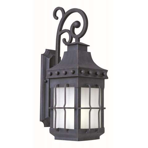 Nantucket EE 1-Light Outdoor Wall Lantern In Country Forge Finish