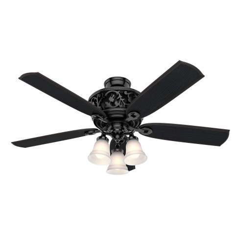 Hunter Promenade Ceiling Fan Model 59545 - Shown with Light Kit