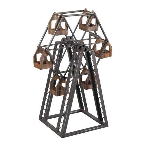 Candle Holder - Bradworth-Industrial Ferris Wheel Candle Holder - Metal