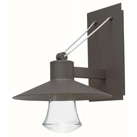 Civic LED Outdoor Wall Lantern in Architectural Bronze