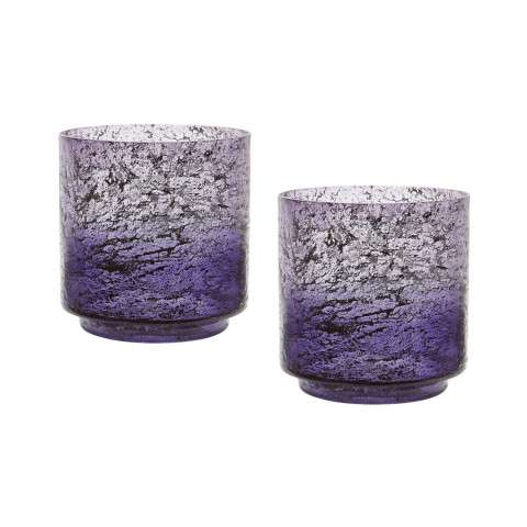 Plum Ombre Hurricane - Set Of 2