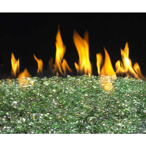 Emerald Fireplace Glass Gems - 10lb bag