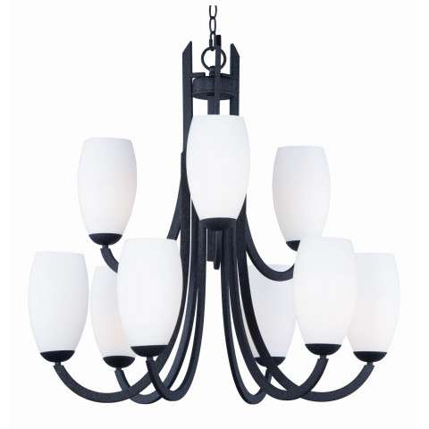 Taylor 9-Light Chandelier in Textured Black