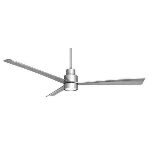 "Minka Aire Simple 52"" Ceiling Fan Model F787-SL-K9787L-SL in Silver"