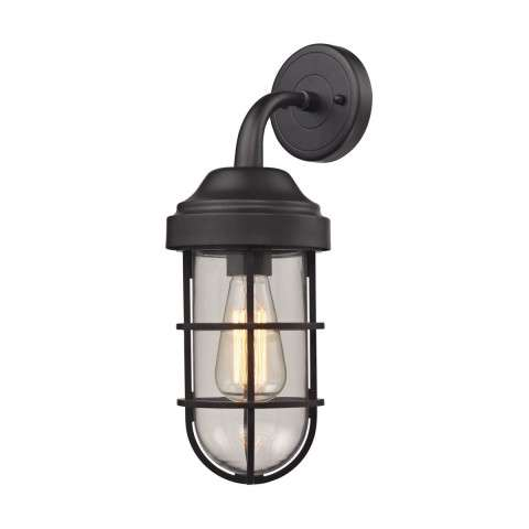 Seaport 1 Light Sconce In Oil Rubbed Bronze