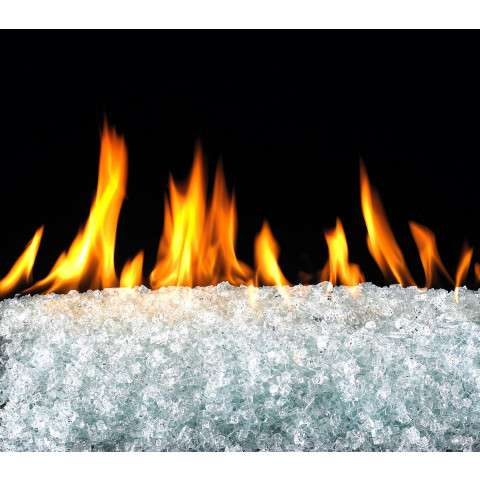 Clear Fireplace Glass Crystals - 7.5lb bag