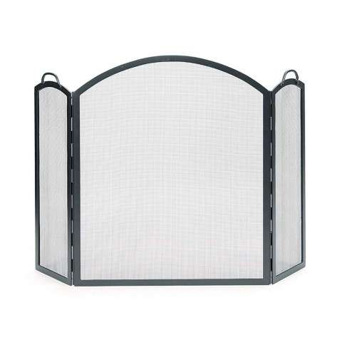 "Arched Three-Part Folding Screen - Large - PC - Graphite - 58.5"" Wide x 38"" Tall"