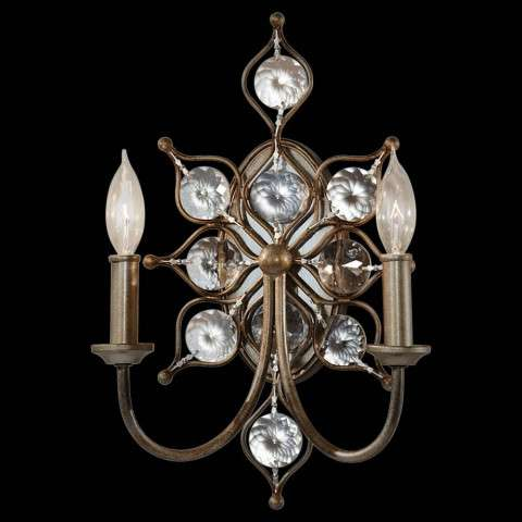 Murray Feiss WB1579BUS Leila Sconce in Burnished Silver finish