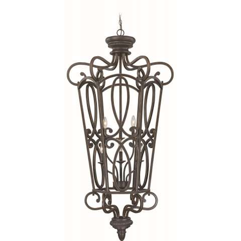 Craftmade Exteriors Highland Place - Mocha Bronze 6 Light Foyer in Mocha Bronze