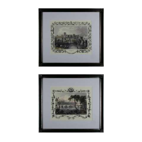 Sterling Furnishings 10030-S2 Etchings With Borders