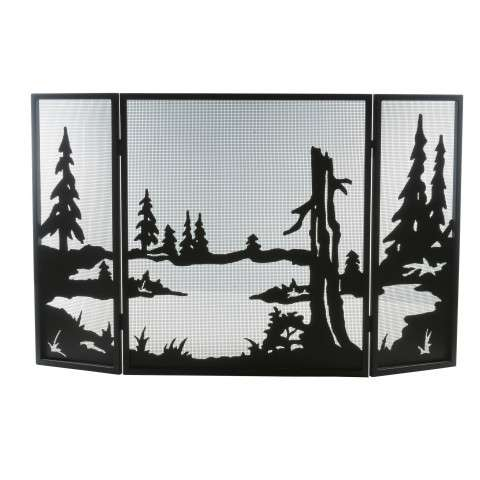 "Quiet Pond Folding Fireplace Screen - 52"" Wide x 32"" Tall"