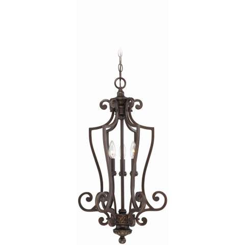 Craftmade Exteriors Josephine - Aged Bronze W/Gold 3 Light Foyer in Aged Bronze W/Gold