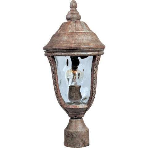Maxim 3100WGET Whittier Cast 1-Light Outdoor Pole/Post Lantern in Earth Tone with Water Glass glass.