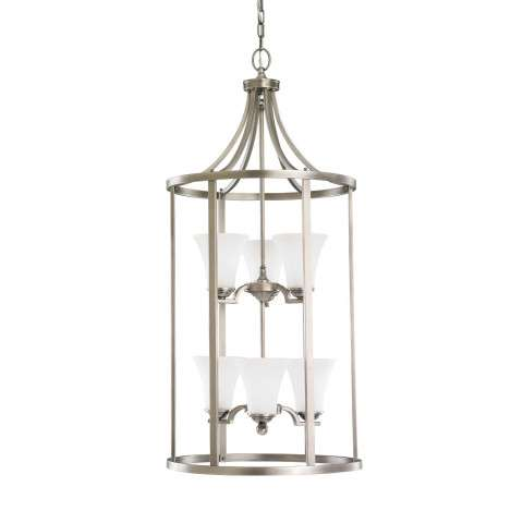 Seagull Lighting 51376-965 Six Light Hall/Foyer in Antique Brushed Nickel finish