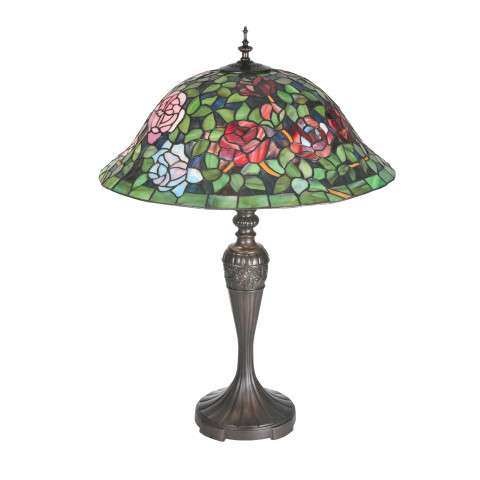 Meyda Tiffany 72443 Tiffany Rosebush Table Lamp