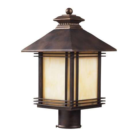 Elk Lighting 42104/1 1 Light Outdoor Post Light Light In Hazelnut Bronze