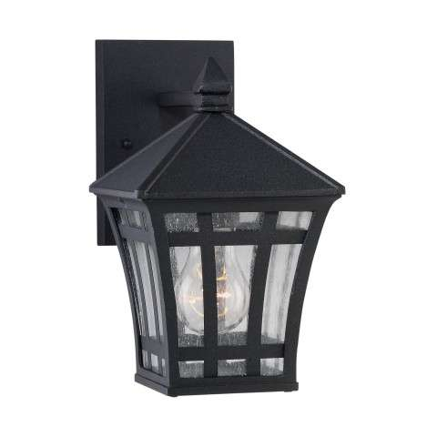 Seagull Lighting 88131-12 One Light Outdoor Wall Lantern in Black finish