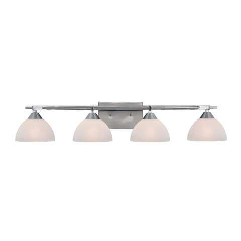 Freeland 4 Light Vanity In Brushed Nickel