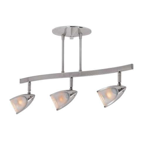 Access Lighting 52030-BS/OPL Comet Semi Flush in Brushed Steel finish with Opal glass