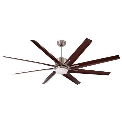 Emerson Aira ECO LED (DC Motor) Ceiling Fan Model CF985LBS in Brushed Steel with Walnut blades