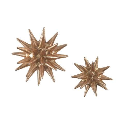 Parsec Gold 4-6 Inch Composite Wall Decor In Copper