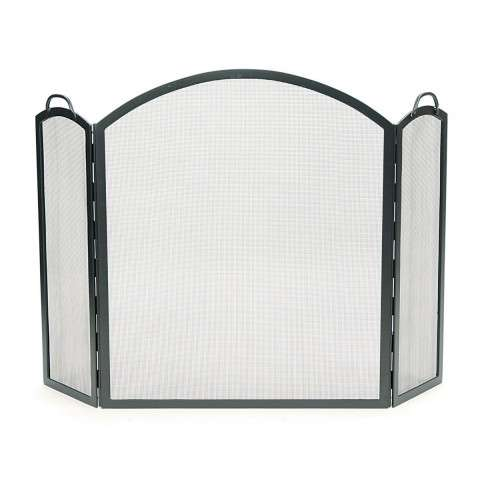 "Arched Three-Part Folding Screen - 52.5"" Wide x 34.5"" Tall"