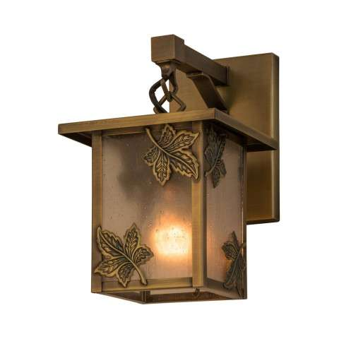 "6.5"" W Hyde Park Maple Leaf Hanging Wall Sconce - Custom Crafted In Yorkville - New York Please Allow 30 Days"