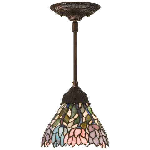 Meyda Tiffany 82422 Wisteria Mini Pendant in Copperfoil finish
