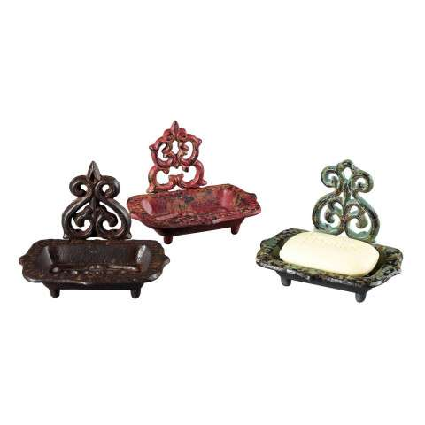 Sterling Furnishings 129-1021/S3 Set Of 3 Soap Dishes