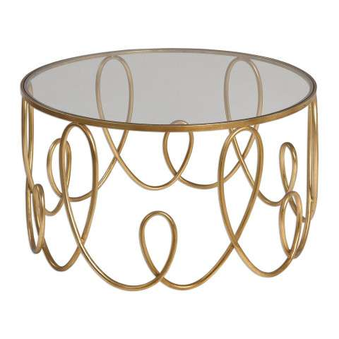 Uttermost Brielle Gold Coffee Table