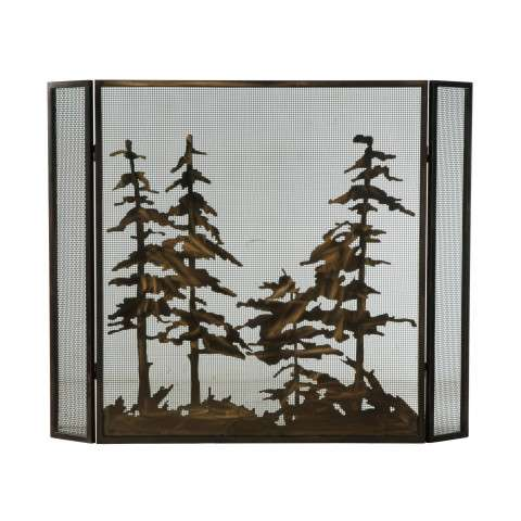 "Tall Pines Folding Fireplace Screen - 51"" Wide x 40.5"" Tall"