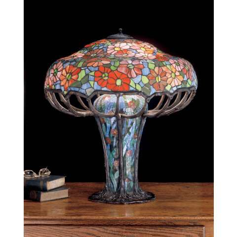 Meyda Tiffany 50352 Tiffany Zinnia Mosaic Base Table Lamp