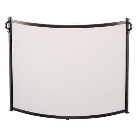 "Bowed Fireplace Screen - 44"" Wide x 31"" Tall"