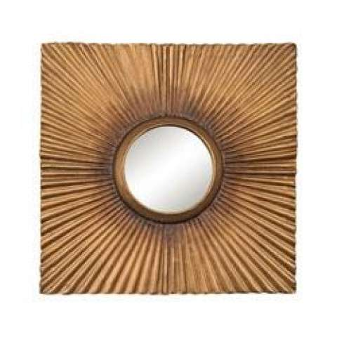 Terraced Gold Panel Mirror