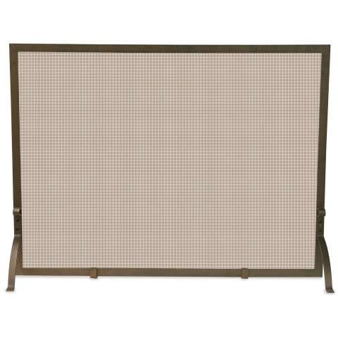"Single Panel Bronze Screen - 44"" Wide x 33"" Tall"