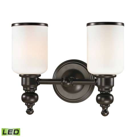 Bristol Collection 2 light bath in Oil Rubbed Bronze - LED - 800 Lumens (1600 Lumens Total) With …
