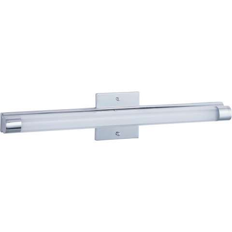 ET2 Contemporary Lighting E22392-10PC Wand LED 1-light Bath Vanity in Polished Chrome finish with Clear/White glass