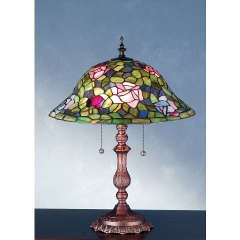 Meyda Tiffany 28406 Tiffany Rosebush Table Lamp