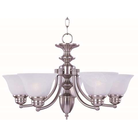 Malaga 6-Light Chandelier In Satin Nickel Finish