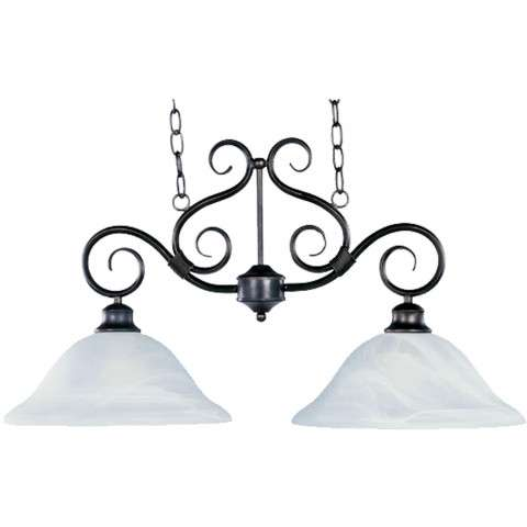 Maxim 2651MRKB Pacific 2-Light Pendant in Kentucky Bronze with Marble glass.