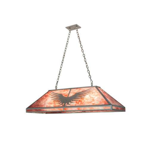 Meyda Tiffany 98236 PhoeniOblong Pendant in Steel finish