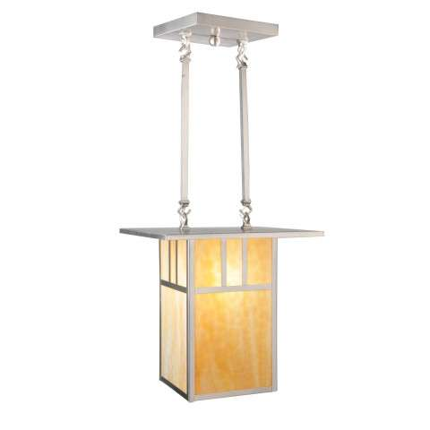 Meyda Tiffany 106383 Double Bar Mission Pendant in Brushed Nickel finish