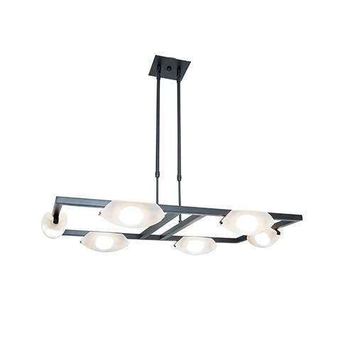 Nido 6-Light Dimmable LED Chandelier in Oil Rubbed Bronze (ORB) with Frosted (FST) Diffuser