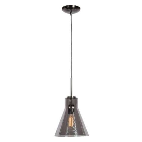 Simplicite (s) 1-Light Pendant in Black Chrome (BCH) with Smoke (SMK) Diffuser